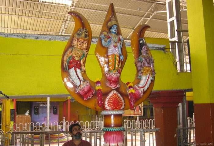 Trishul at temple