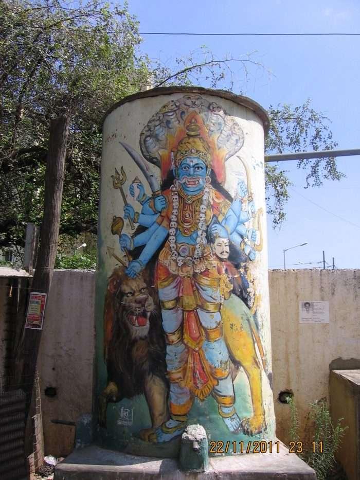 Water tank art Sunday in my city