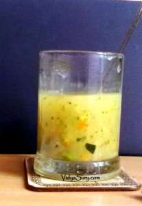 Sweet corn vegetable soup at home