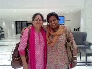 We met again after 27 years. College mate - one year senior. I adore her