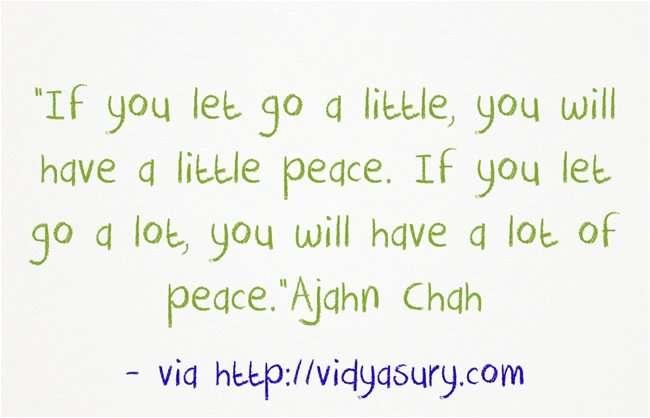 Let go and enjoy peace! Vidya Sury