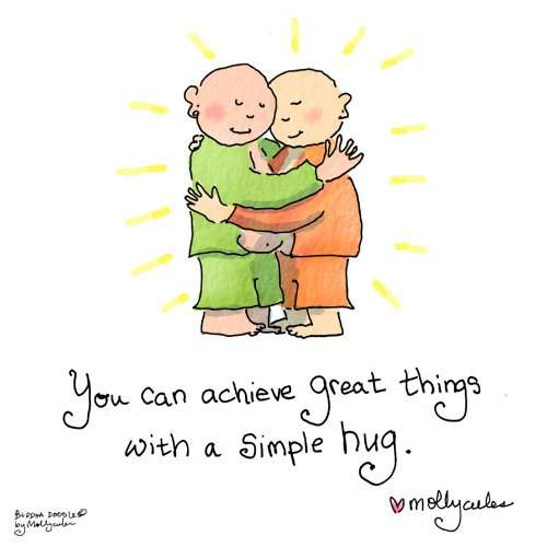 taking one day at a time hugs