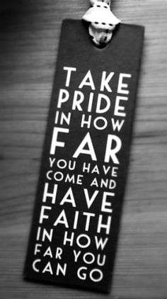 Encouragement take pride
