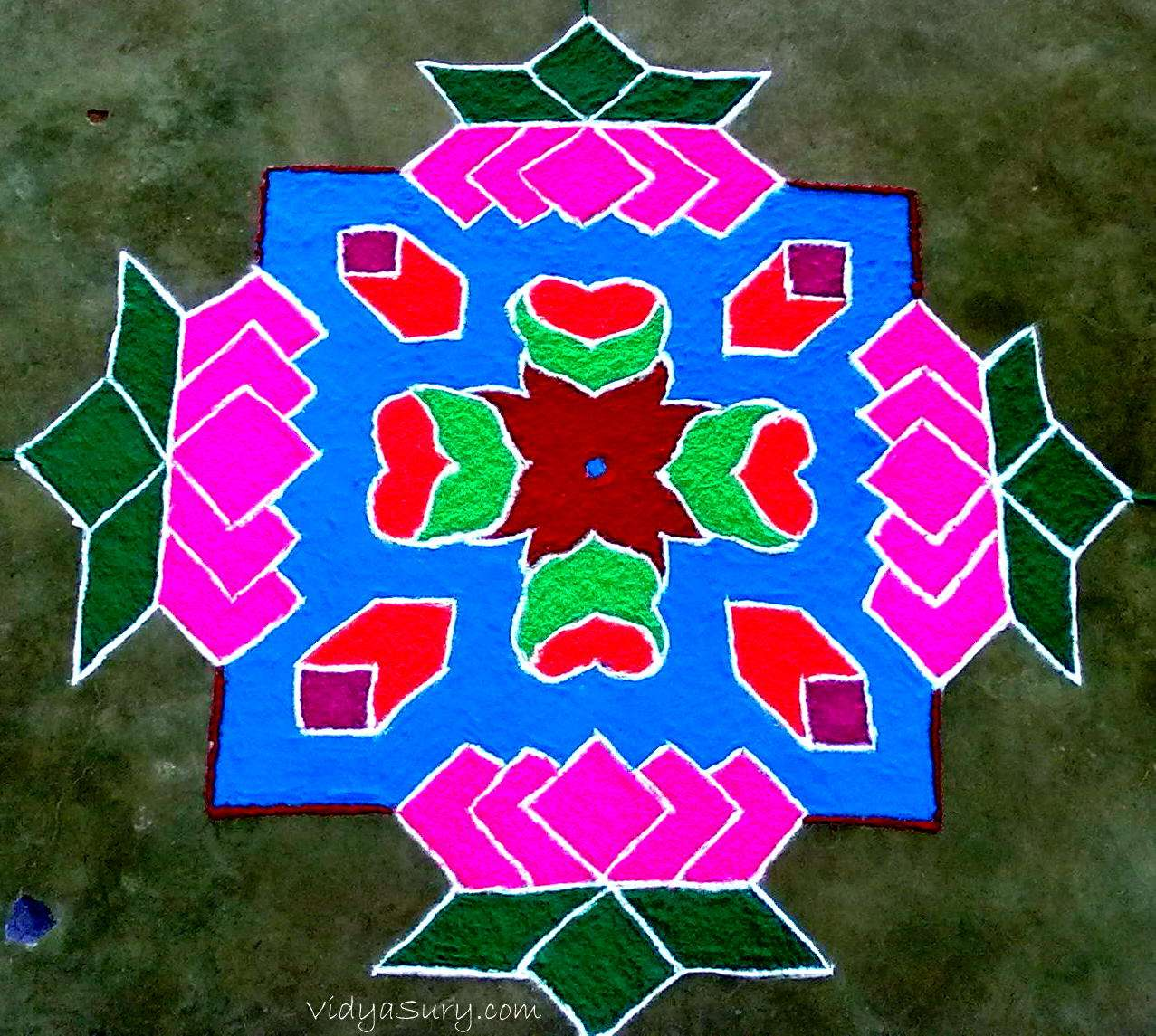 Rangoli Designs For Competition With Concepts The base is white � mixed with