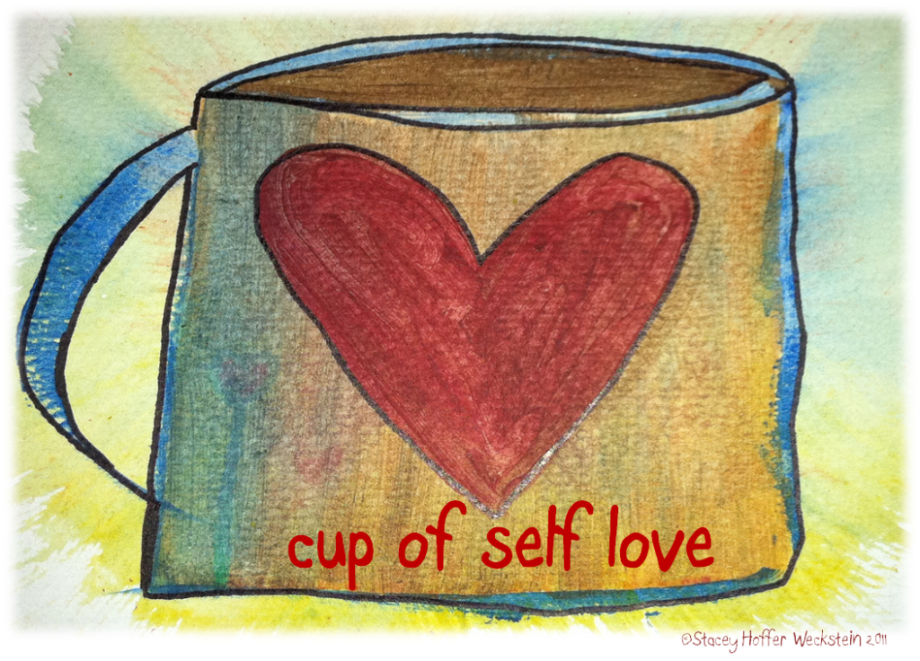 cup of self love sketch