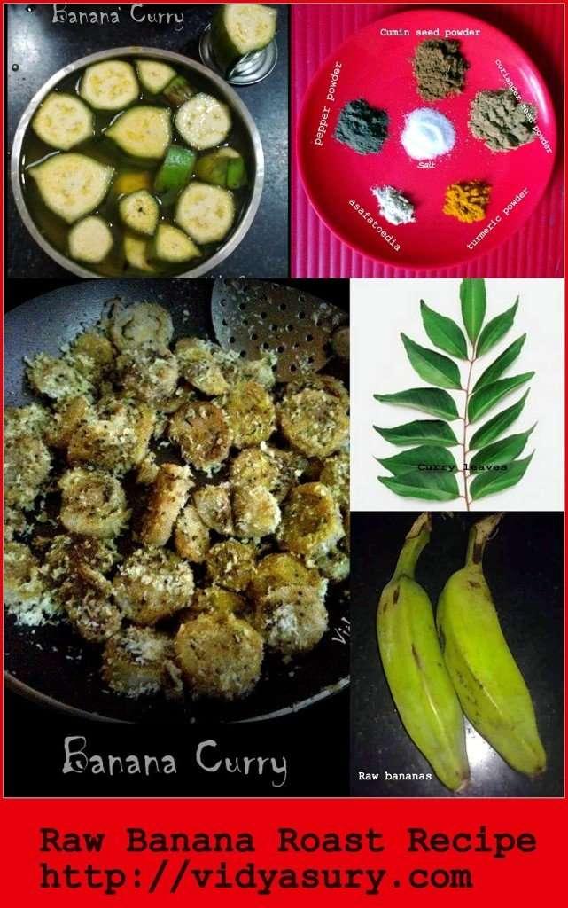 raw banana roast recipe vidya sury