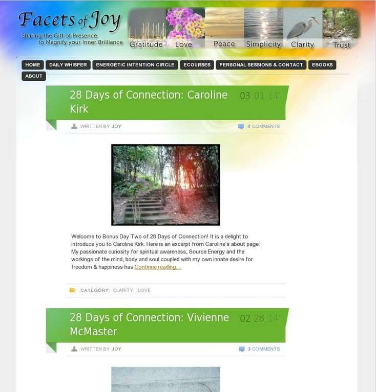 Facets of Joy Blog Love