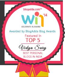 Top five blogger vidya sury