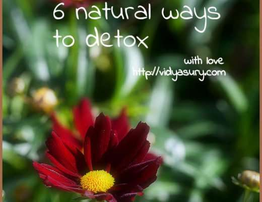 natural ways to detox vidya sury