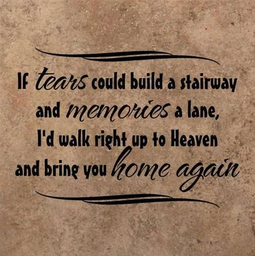 if tears could build a stairway