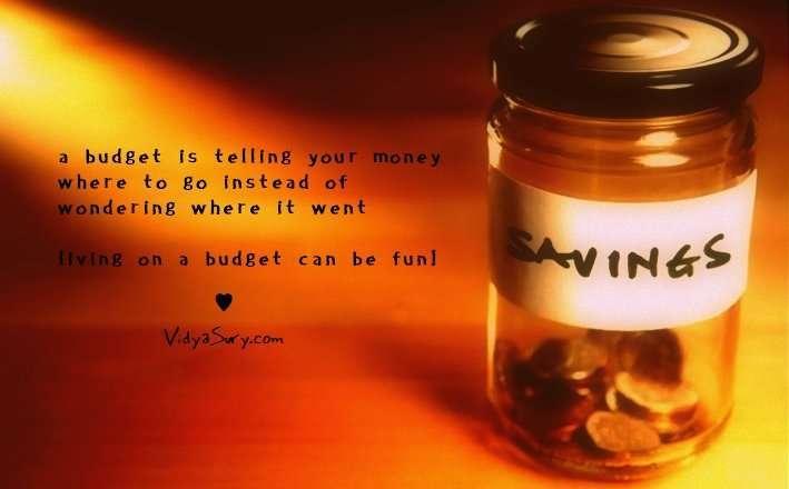 Living on a budget Vidya Sury