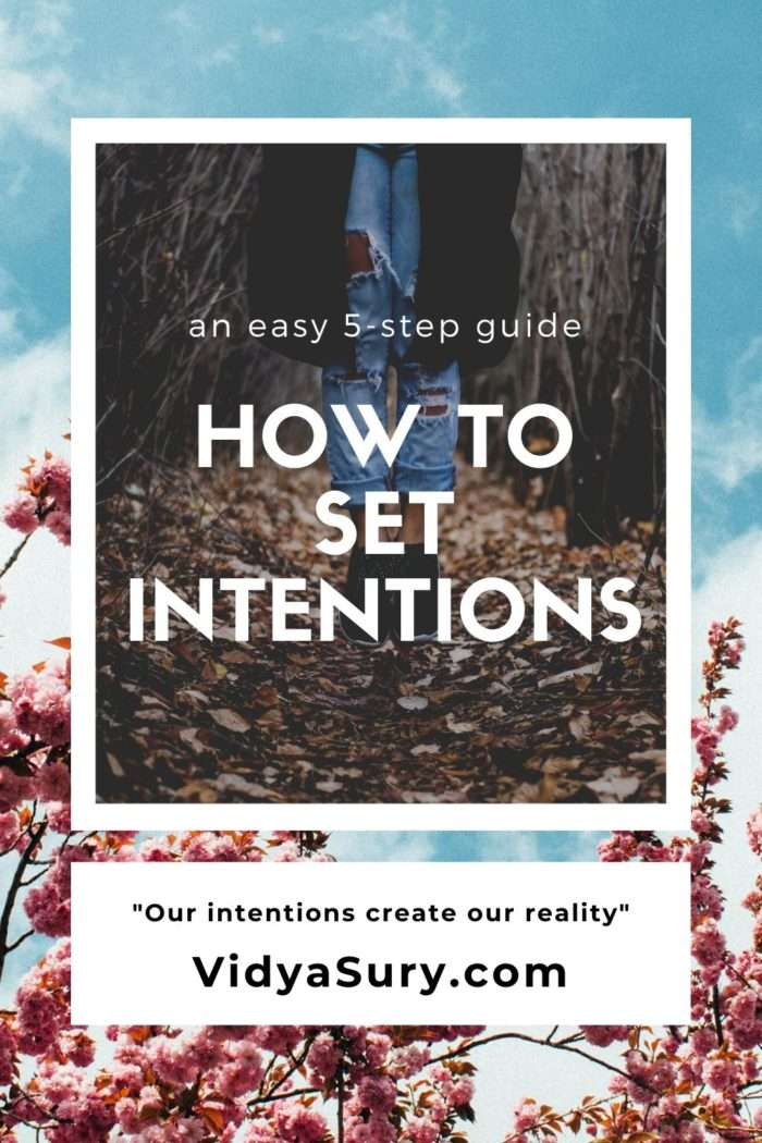 How to set intentions an easy 5-step guide