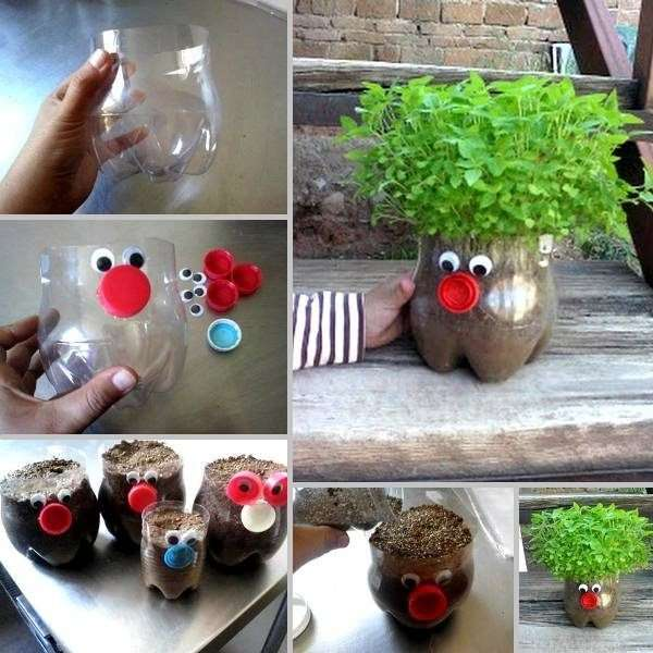 Plastic bottle planter Gratitude Vidya Sury 1