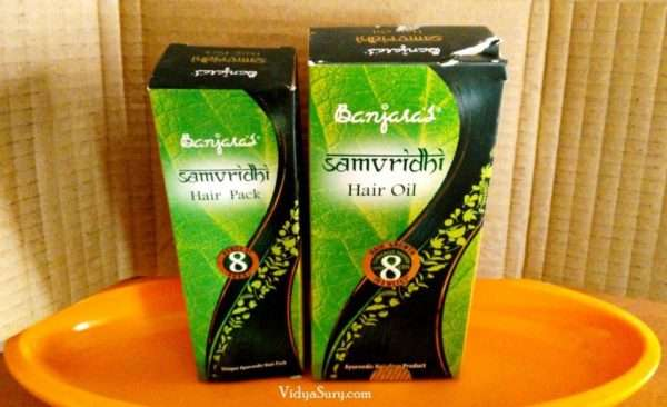 Banjara's Samvridhi Hair Oil and Hair Pack – review Vidya Sury (9)