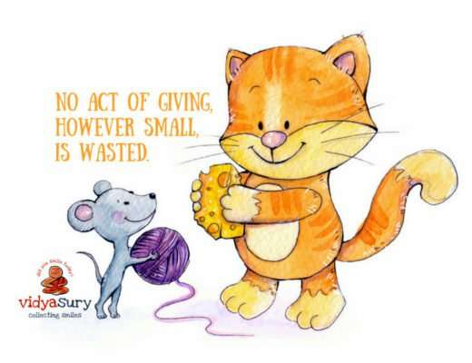 Giving is a gift Vidya Sury #AtoZChallenge #CollectingSmiles