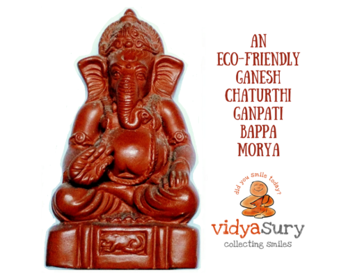 Ecofriendly ganesha immersion Vidya Sury