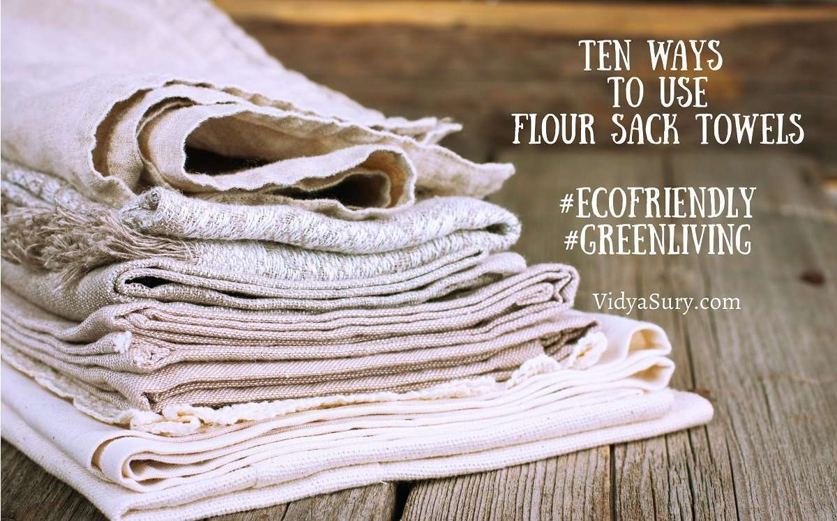 10 creative ways to use flour sack towels #DIY #Crafts #ecofriendly