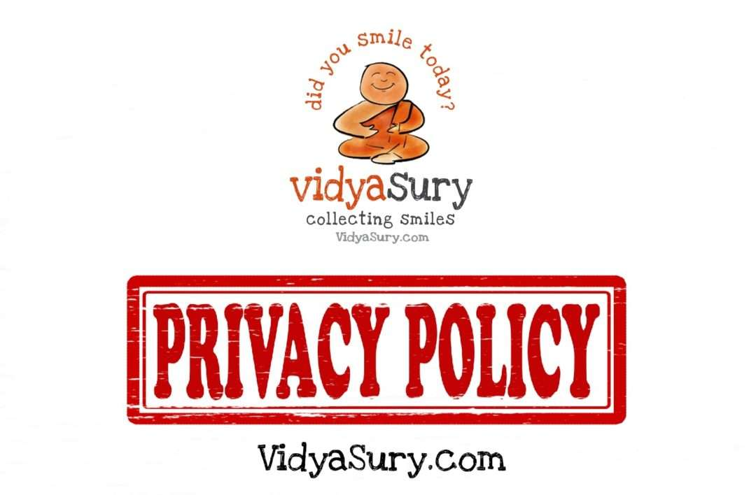 Privacy Policy Vidya Sury