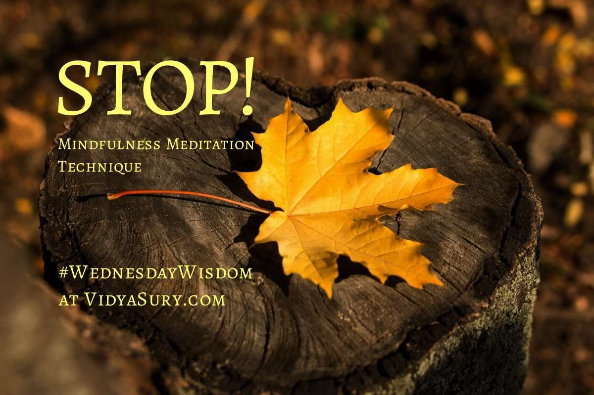 STOP mindfulness meditation technique #WednesdayWisdom #Mindfulness