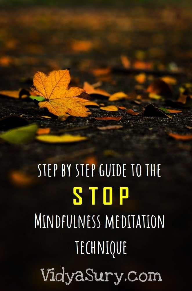 STOP mindfulness meditation technique #mindfulness #WednesdayWIsdom