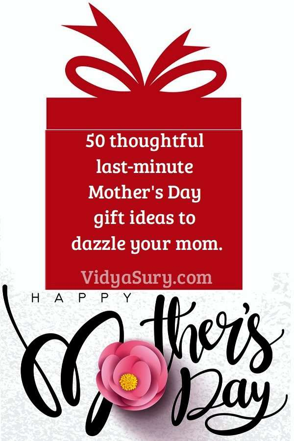 50 last minute, thoughtful Mothers Day Gift Ideas #MothersDay #giftideas