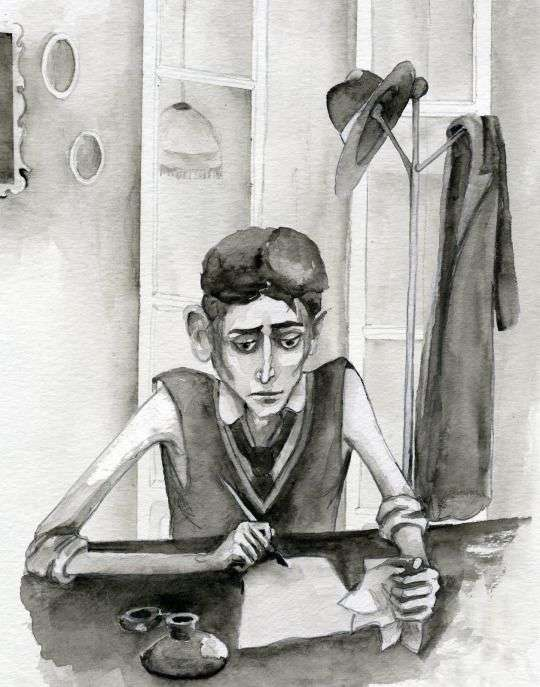 Kafka writing letters from the doll inspiring story