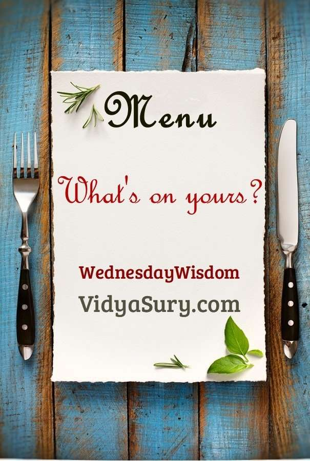 Menu What is on yours today