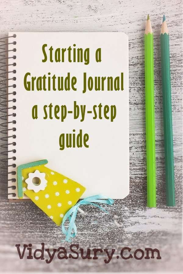 Starting a Gratitude Journal A step by step guide. #Gratitude #Happiness #Selfimprovement #guide