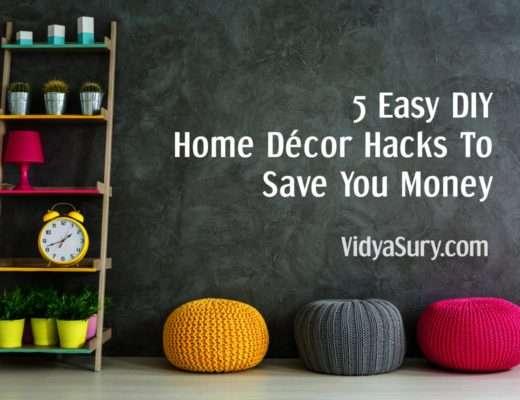 5 Easy DIY Home Décor Hacks To Save You Money #homedecor #diy #savemoney