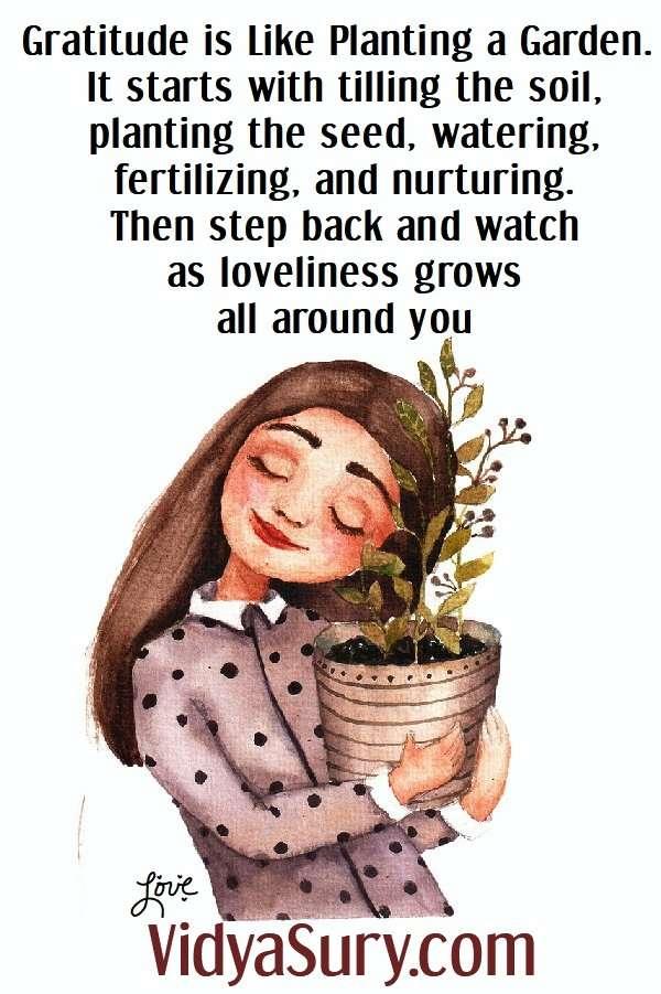 Gratitude is like a garden. Raising a grateful child