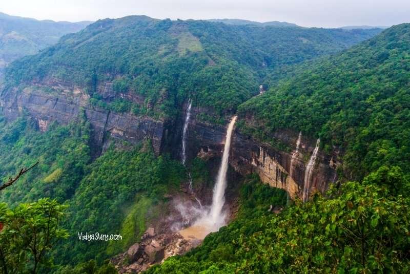 Nohkalikai falls, Shillong Ten destinations I would love to visit again