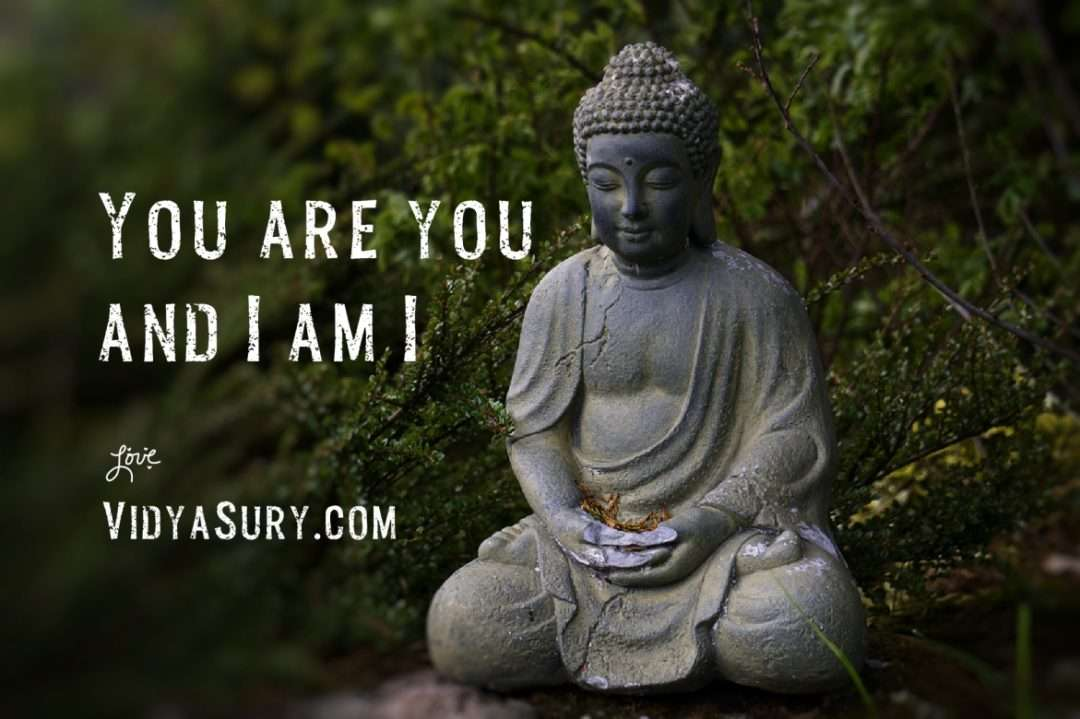 You are you and I am I. Let's celebrate the difference.
