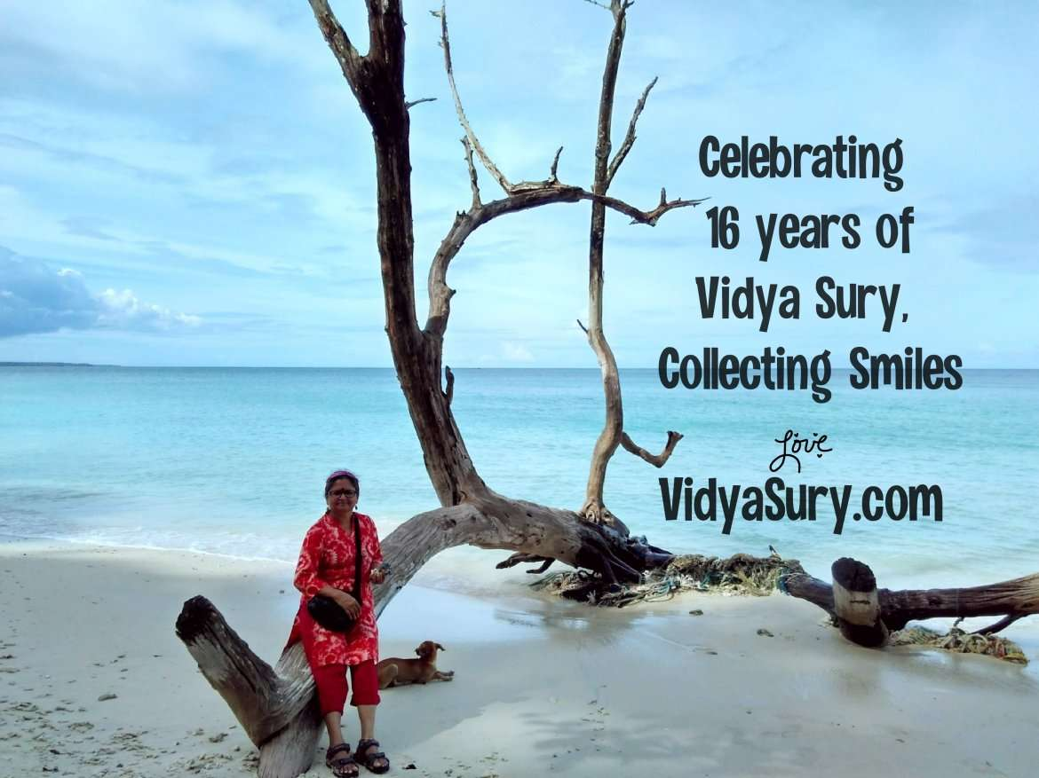 Celebrating 16 years of Vidya Sury Collecting Smiles