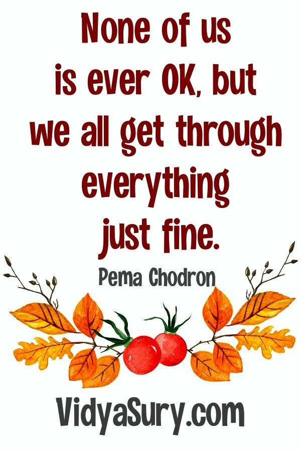 108 inspiring quotes from Pema Chodron We are all fine