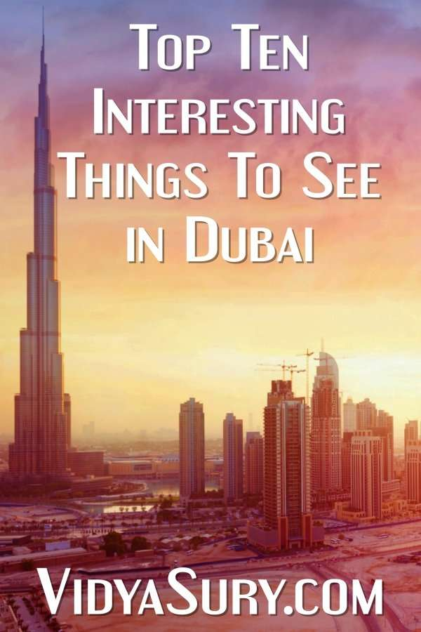 Top ten interesting things to see in Dubai