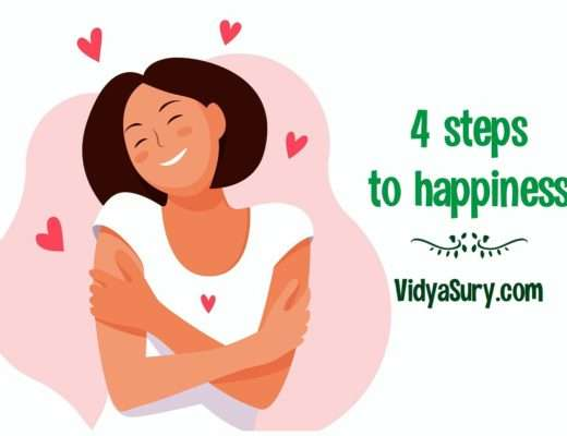 four steps to happiness celebrate yourself
