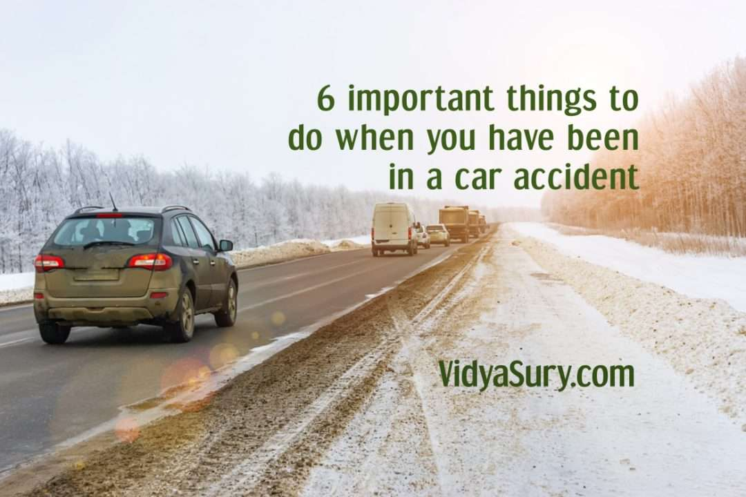 6 important things to do when you have been in a car accident
