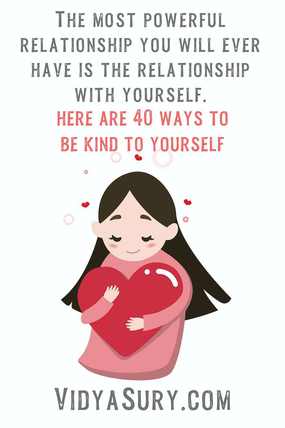 40 ways to be kind to yourself now