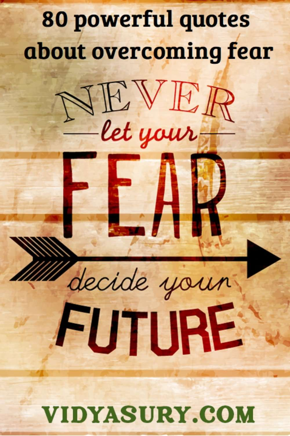 Never let your fear decide your future Quotes to overcome fear