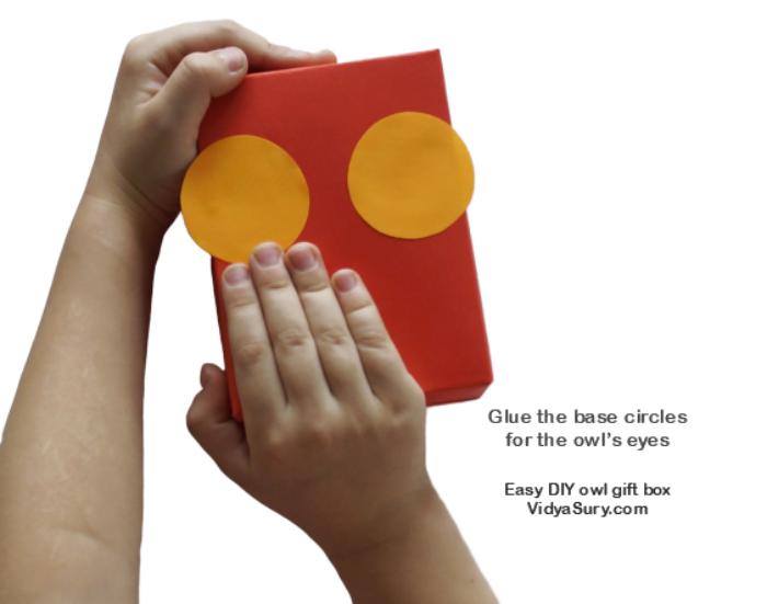 Step 2 Easy DIY owl gift box