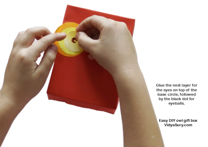 Step 3 Easy DIY owl gift box