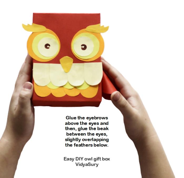 Step 5 Easy DIY owl gift box