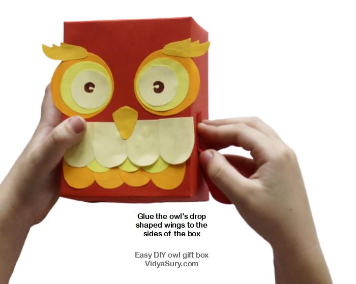 Step 6 Easy DIY owl gift box