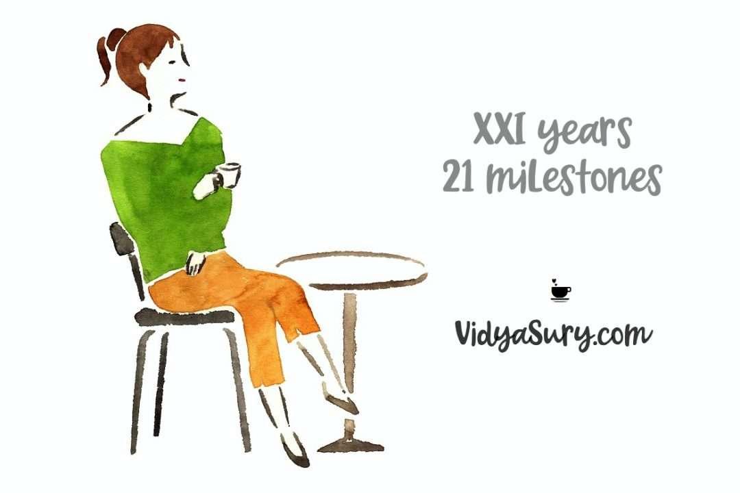 XXI years 21 milestones