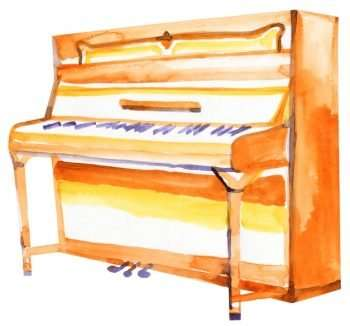 Upright piano - learn piano online