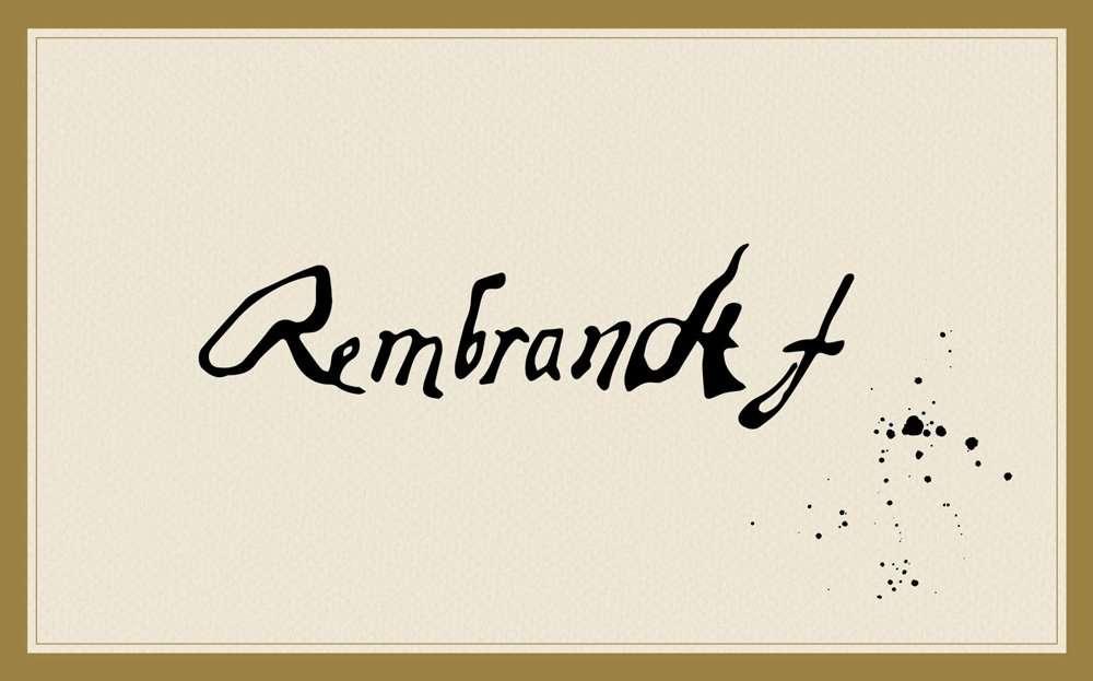 rembrandt-signature handwriting