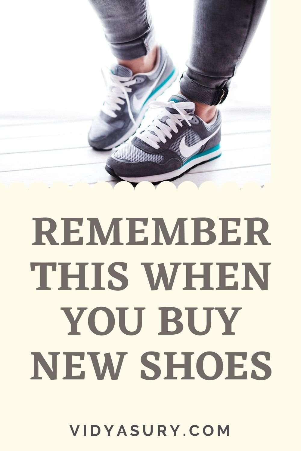 Remember this when you buy new shoes