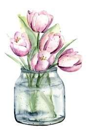 Tulips flowers at home for your wellbeing