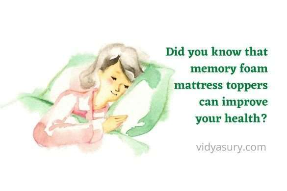 Did you know that memory foam mattress toppers can improve your health
